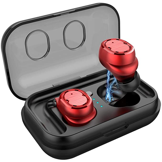 Peyou Auriculares Inalambricos Bluetooth 5.0, PEMOTech Auricular Inalámbrico Manos Libres [450mA Caja de Carga