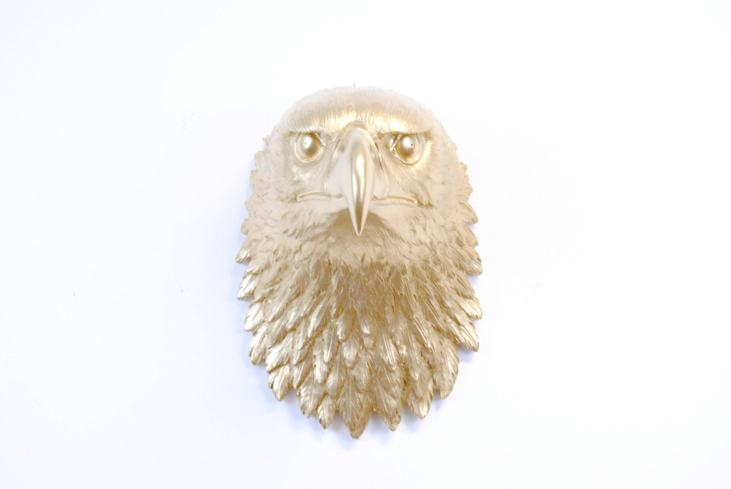 Near and Deer Faux Taxidermy National Bird Eagle Head Wall Mount, Gold by Near and Deer