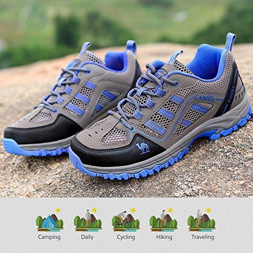 de Senderismo Azul Viaje Entrenadores Escalada Unisex para Causal Walking Senderismo Uso Respirables Gimnasio Running Diario Zapatillas Zapatos Shoe Junior dFqwA5d