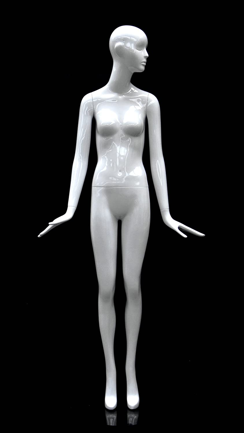 ROXYDISPLAY/™ Female Abstract Head Mannequins Elegant Standing Pose with Straight Legs. MZ-BESS-10