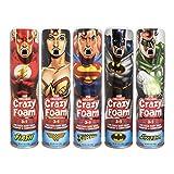 Crazy Foam DC Justice League 5 pk: Superman, Batman, Wonder Woman, Flash, Green Lantern