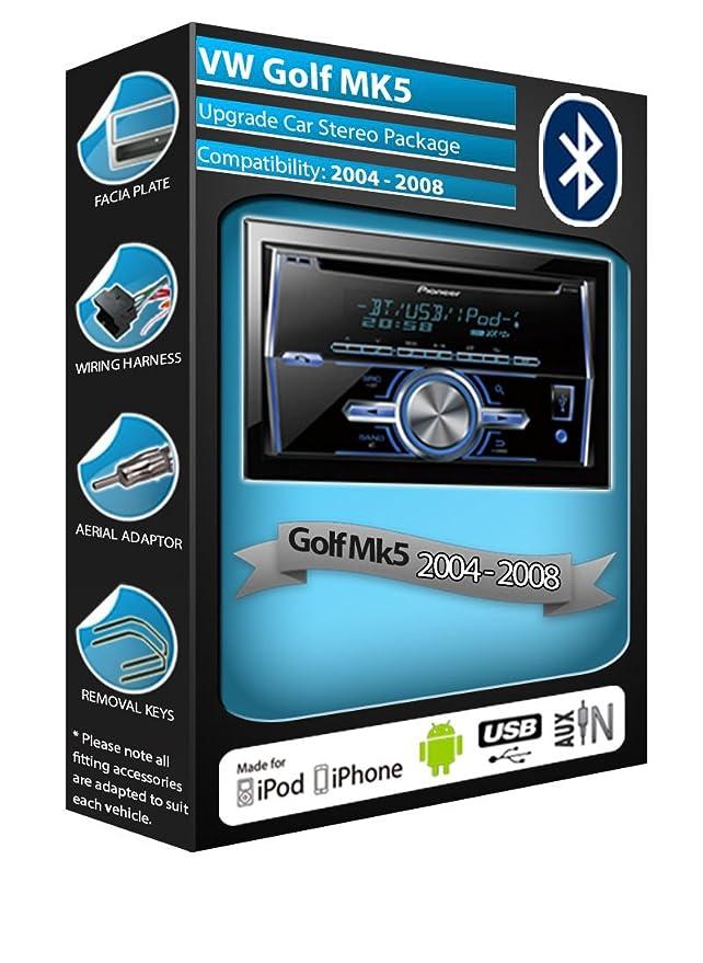 VW Golf MK5 car stereo CD player Pioneer FH-X700BT: Amazon.co.uk ...
