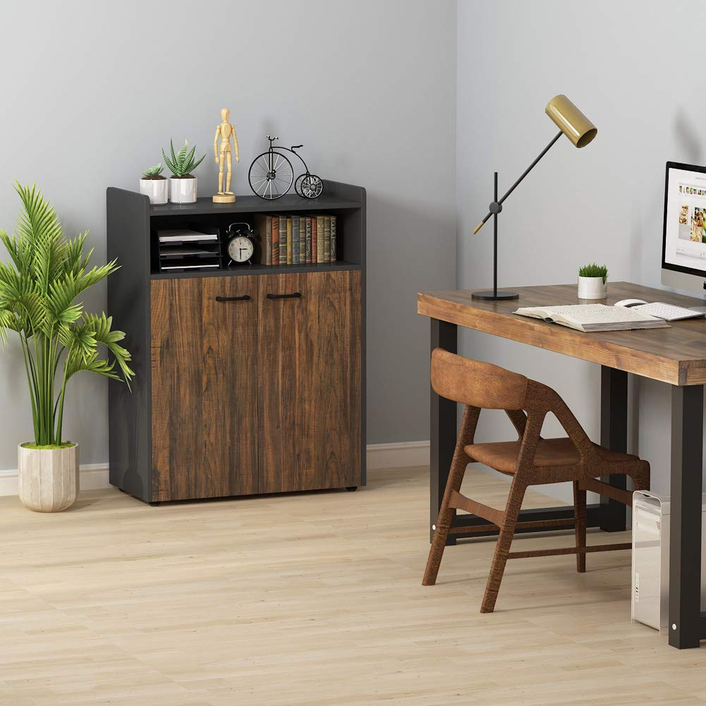 Tribesigns Office Storage Cabinet, Industrial Large Tall File Cabinet Printer Stand with Storage Shelves and Doors for Home Office by Tribesigns (Image #3)