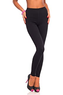 Full Length Black Leggings High Waist Genuine Cotton and Lycra All Sizes LWP