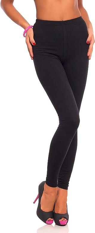 FUTURO FASHION - Leggings Suaves para Mujer - Algodón - Negro ...