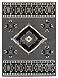 Rugs 4 Less Collection Southwest Native American Indian Area Rug Navajo Design R4L SW2 in Grey (5'x7')