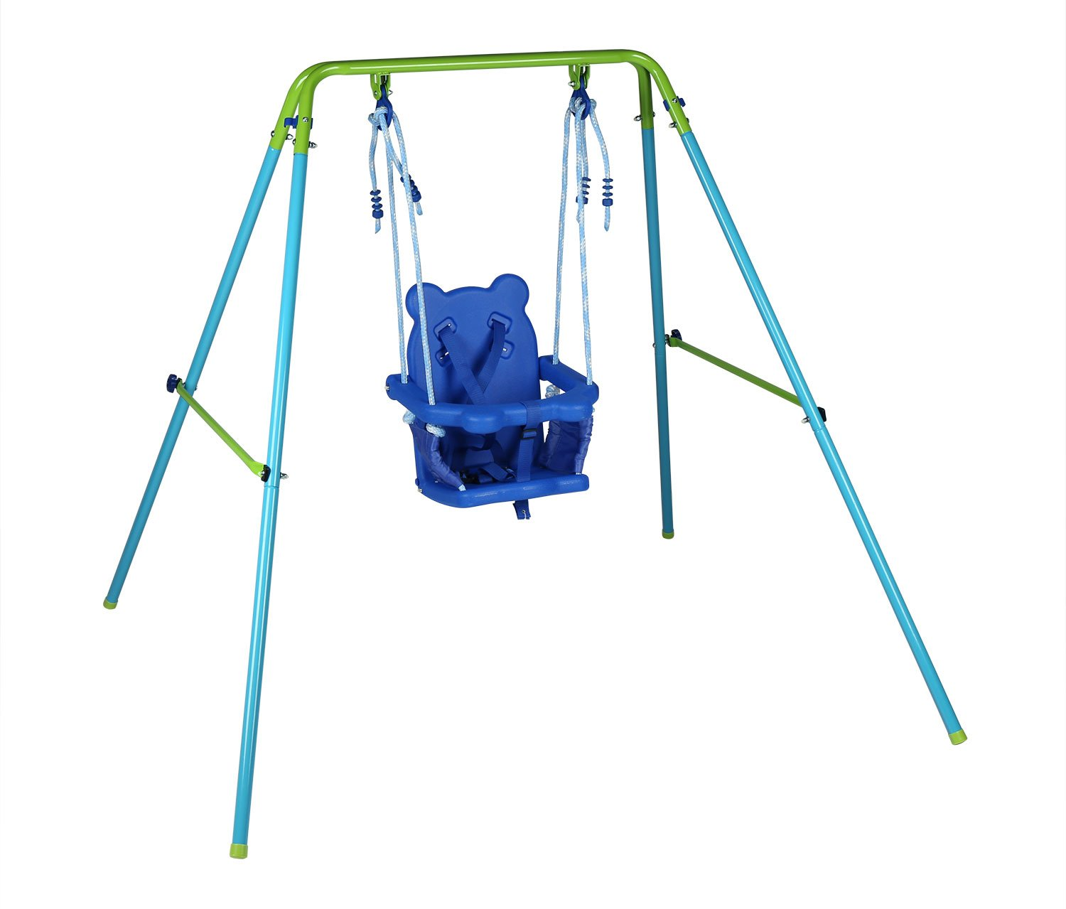 Outdoor baby swing - Blue Folding Swing Outdoor Indoor Swing Toddler Swing With Safety Baby Seat For Baby Chirldren S Gift Amazon Co Uk Toys Games