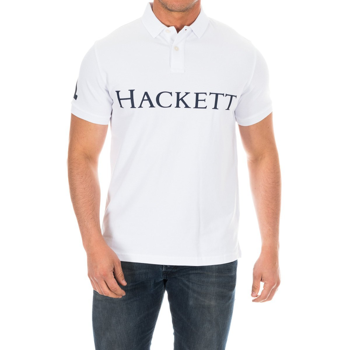 Hackett London GMD Hackett Polo, Blanco (White 800), S para Hombre ...