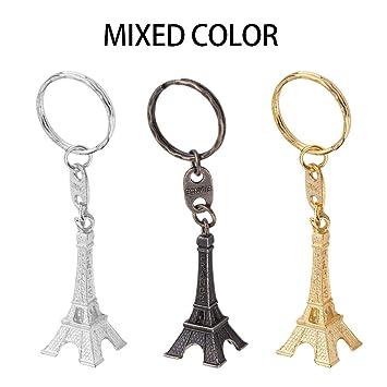Kaemma Unisex Retro Mini París Torre Eiffel Modelo Llavero ...