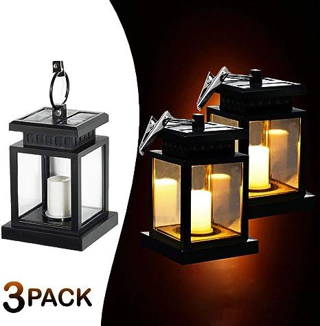Amazon.com: MakeABC Lámpara solar colgante para exteriores ...
