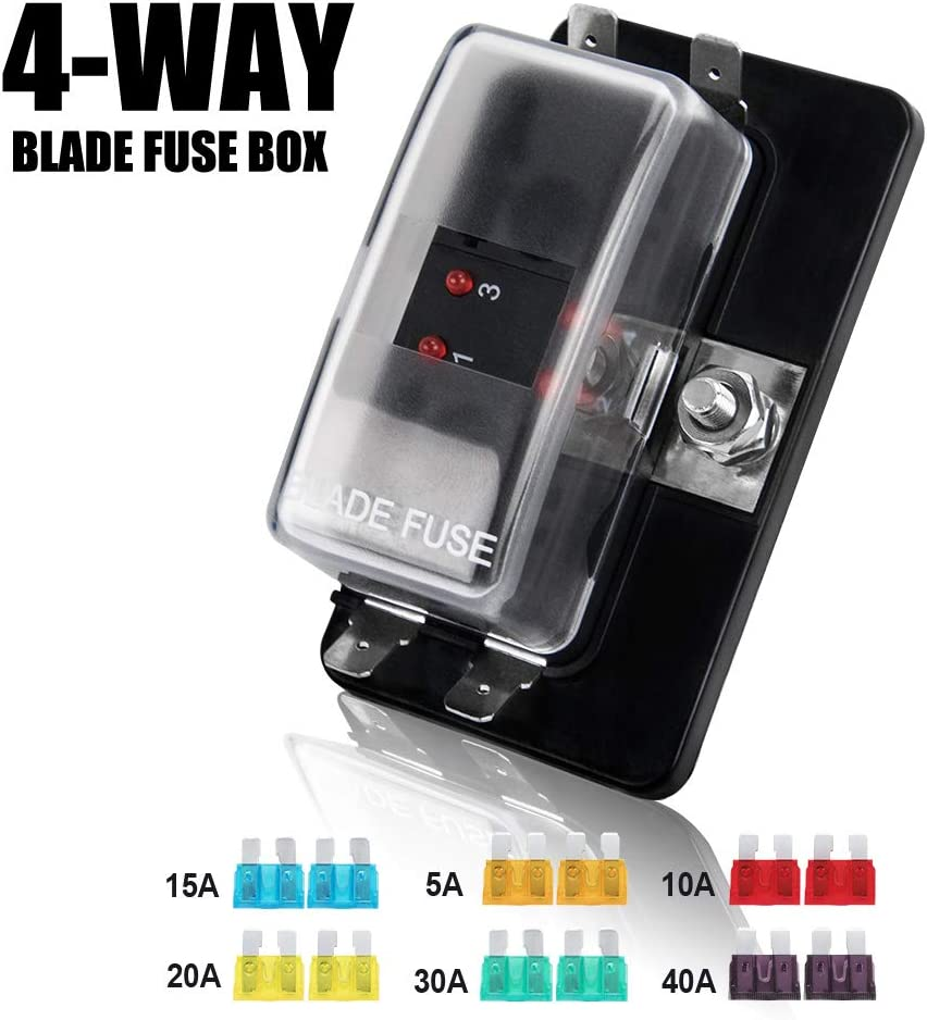 5 x Standard Blade Automotive Fuse Holder w//Cover