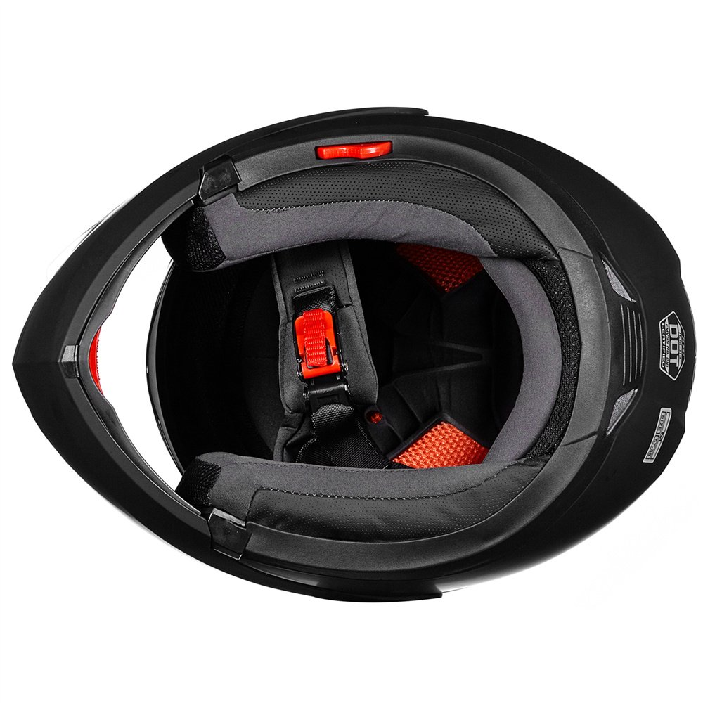 XL, Matte Black ILM 8 Colors Motorcycle Modular Flip up Dual Visor Helmet DOT
