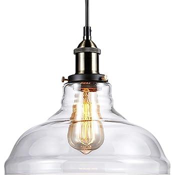 kitchen lighting fixtures 2013 pendants. LEONLITE 1-Light Industrial Clear Glass Pendant Light Fixture, UL Listed,  E26 Base, Edison Vintage Style Lampshade, Adjustable Height, For Kitchen, Kitchen Lighting Fixtures 2013 Pendants