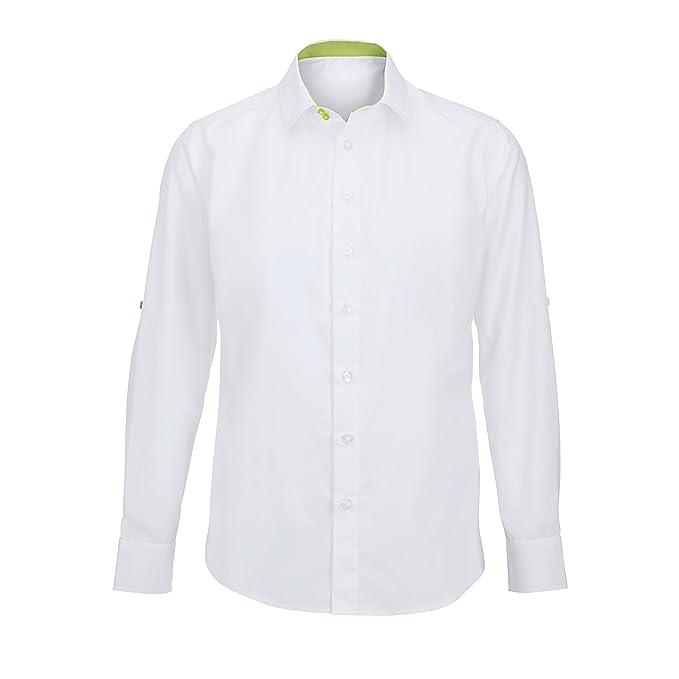 Alexandra - Camisa de mangas plegables de hostelería para hombre   Amazon.es  Ropa y accesorios a718fde08ce96