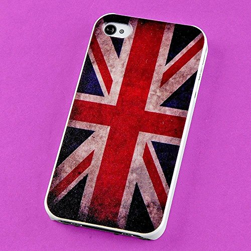 - New Lot Many Colorful Back Skin Case TPU Hard Cover Protector for iPhone 4 4S 4G(The Union Jack - Confederate Retro Flag US)