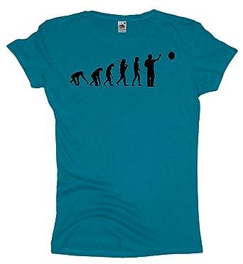 Ma2ca - Evolution - Dart - Damen Girlie T-Shirt -azure-xs
