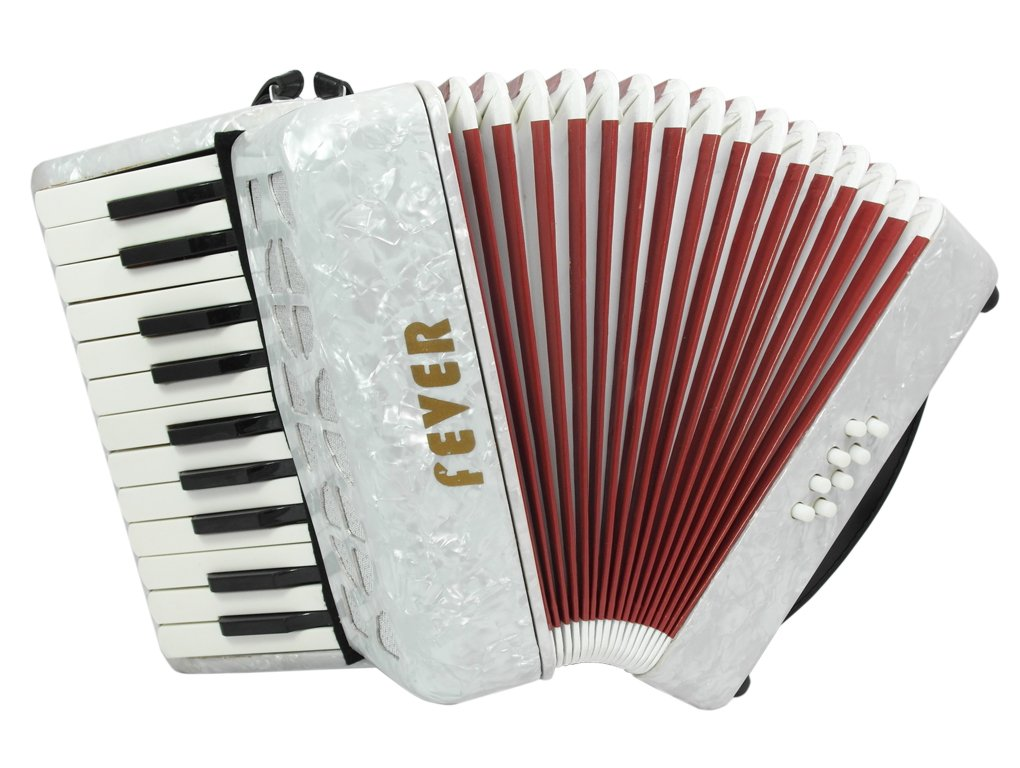 Fever Piano Accordion 22 Keys 8 Bass, White