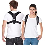 Tomight Posture Corrector for Men and Women, Adjustable Upper Back Brace for Clavicle Support and Providing Pain Relief from Neck, Back and Shoulder (Universal)