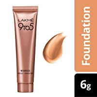 Lakme 9 to 5 Weightless Mousse Foundation, Rose Ivory, 6g