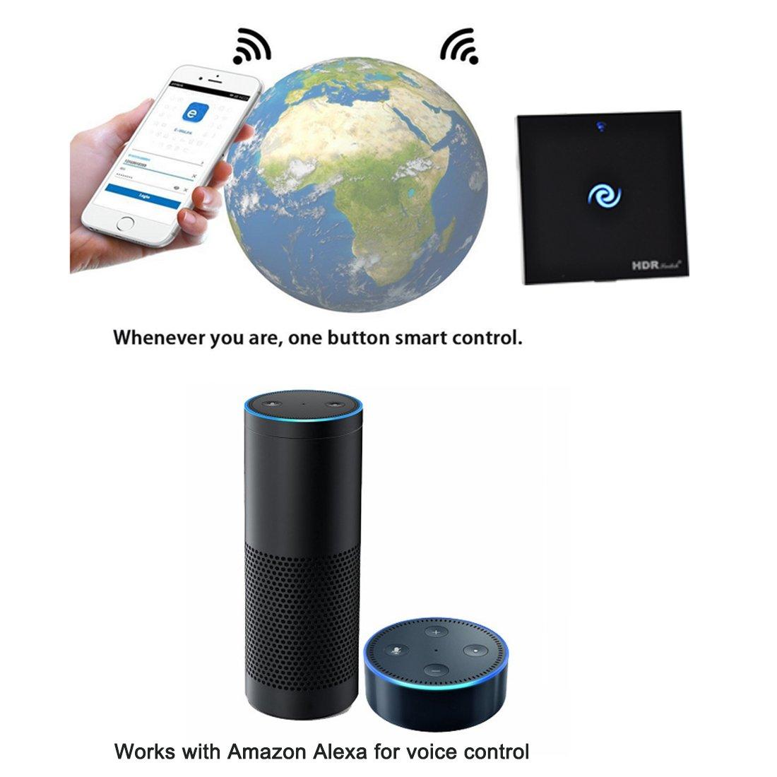 HDRswitch® Smart Wi-Fi Light Touchscreen1 Gang, kein Hub ...