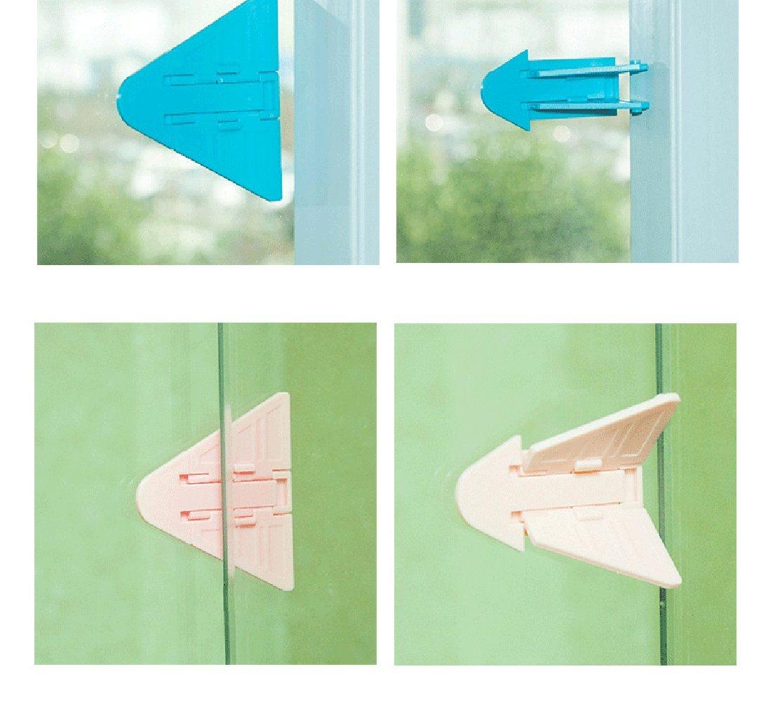 utili anche su armadi, ideali per la sicurezza dei bambino Set di 5 blocchi per porta o finestra scorrevole senza chiave