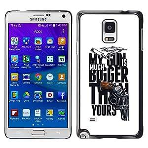 LASTONE PHONE CASE / Diseño de Delgado Duro PC / Aluminio Caso Carcasa Funda para Samsung Galaxy Note 4 SM-N910 / Funny