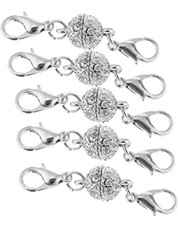Boucle avec Vis /à Connection Bijoux MagiDeal Lot 5pcs Mousqueton Fermoir /à Bijoux en Acier Inoxydable pour Bracelet Collier