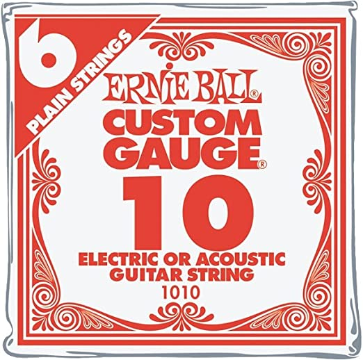Individual Package 11 Gauge Medium 20-Pack Single Electric Guitar Strings Bulk .011 High E