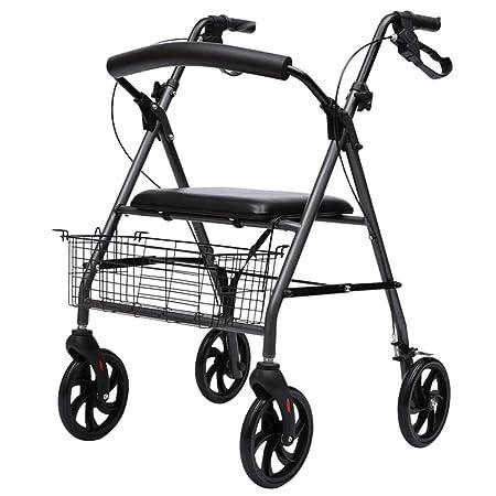 Andador con ruedas plegable, andador con ruedas de acero con ...