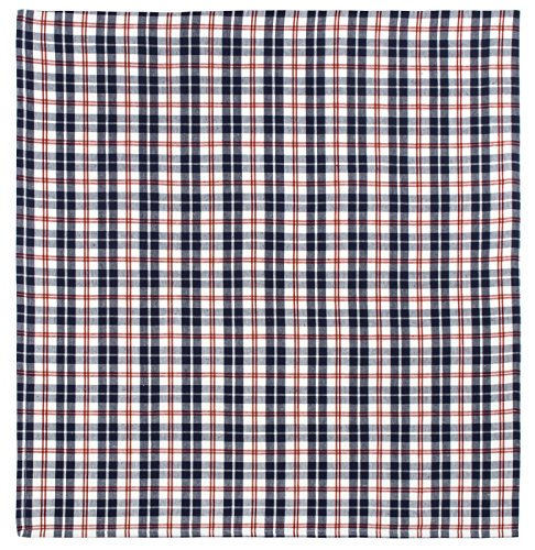 Cape Cod Dining - 100% Cotton Navy Red & White Plaid 54