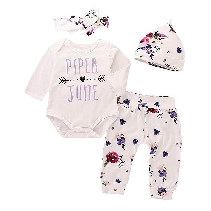 Amazon.com: Juego de ropa de bebé, 4 piezas, para recién ...