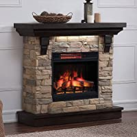 Eugene Electric Fireplace Mantel Package...
