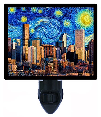 Night Light, Denver Starry Night, Van Gogh, Colorado - Bedroom Furniture Colorado