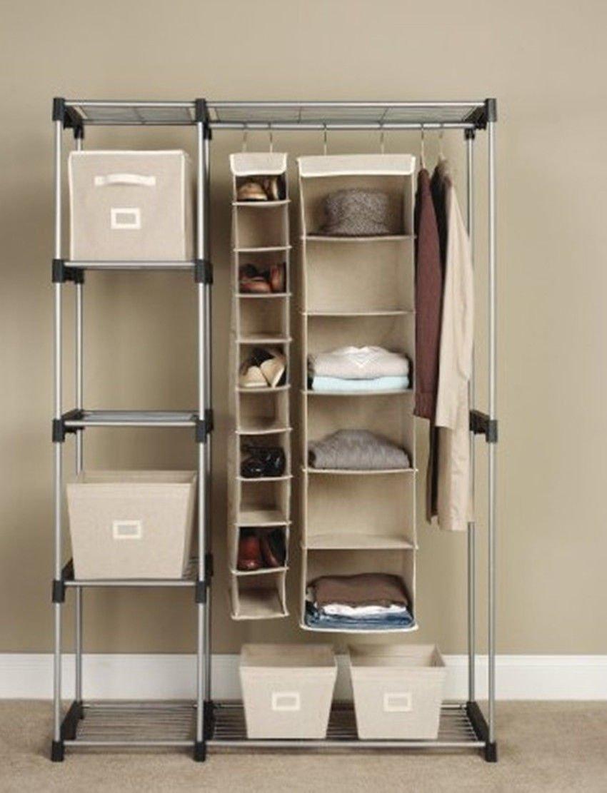 Generic YC-AUS2-150919-69 <8&14691> Rod WHrtable Clot Portable Clothes manstargogogo Hanger Home Storage Rack Garment Shelf Rod WH Closet Orga
