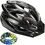 zacro Light Weight Cycle Helmet for Bike Riding Safety - Adult Bike Helmet with Detachable Visor and Liner and in Medium Size (54-62cm), With Head band, Black