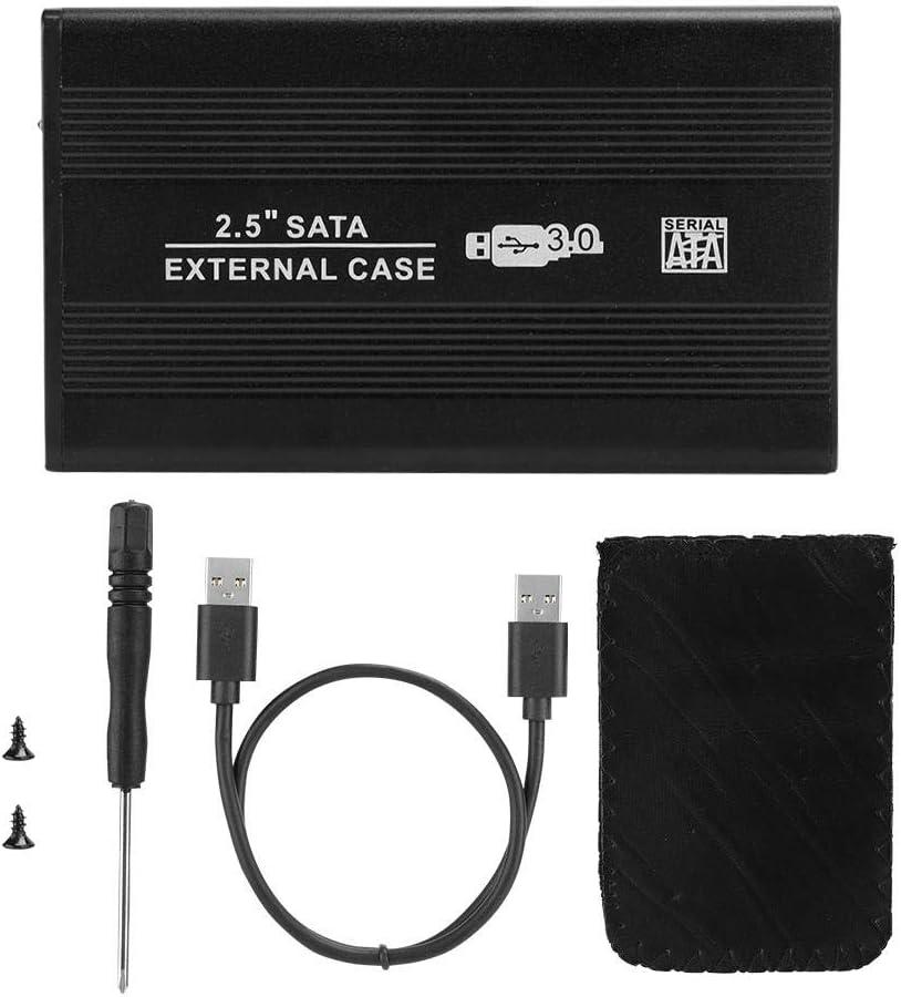 ASHATA Hard Drive Enclosure,2.5 Inch SATA USB 3.0 Mobile Hard Disc Drive External Enclosure HDD Aluminum Box Case,2.5 Hard Drive Enclosure HDD Case SDD Box for Win7 for Mac OS Win8 Win10