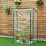 Garden Greenhouse Grow House Plant Vegetable Growbag With PVC Cover 40''x20''x59''