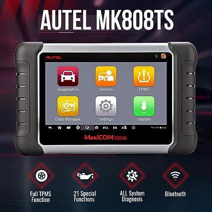 Incluyendo reinicio de Aceite BMS EPB SAS MD802+MaxiCheck Pro DPF Autel MaxiCOM MK808 OBD2 Herramienta de diagn/óstico con Todas Las Funciones de Sistema y Servicio TPMS e IMMO