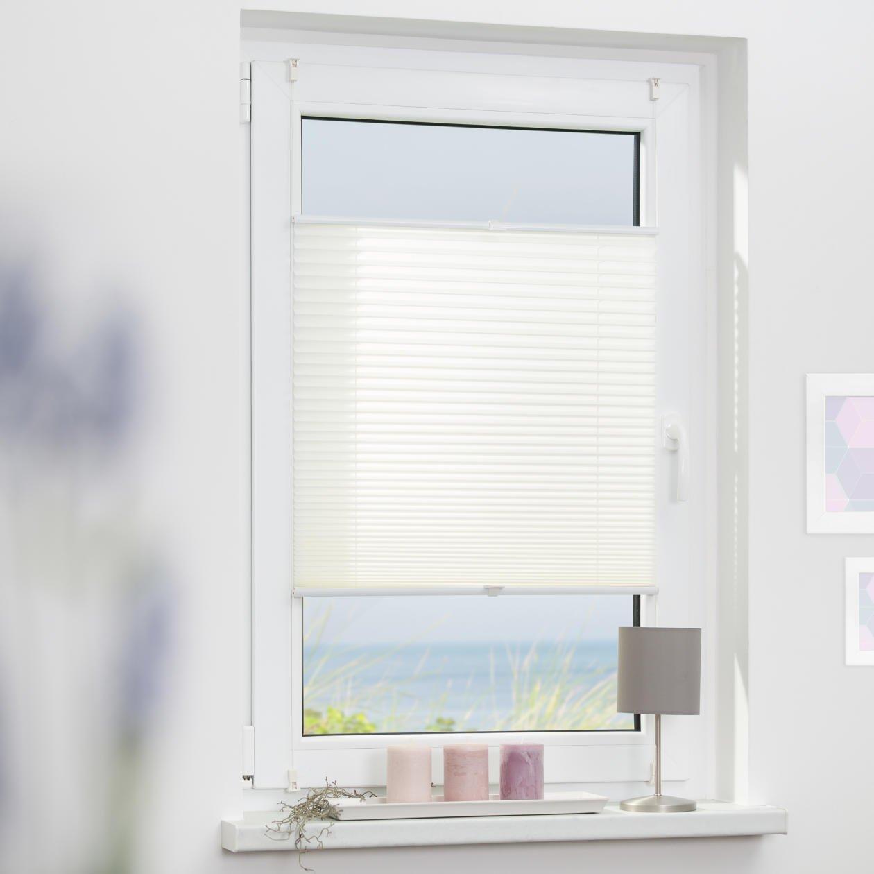 Amazon.de: Lichtblick Plissee Klemmfix, 110 Cm X 130 Cm (B X L) In Weiß,  Ohne Bohren, Sicht  Und