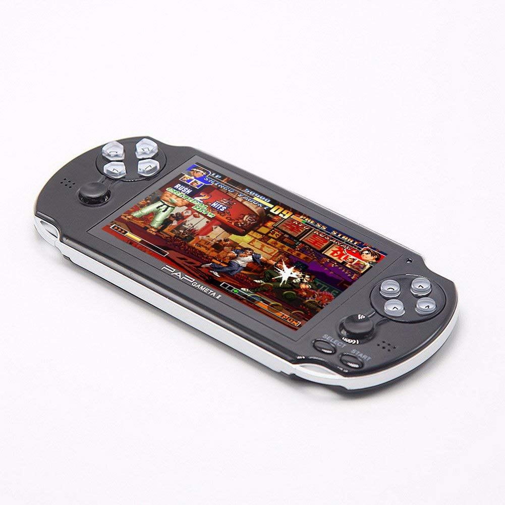 CZT Dual core 4.3 inch Handheld Game Console Video Game Console 16GB Built in 3000 CPS/NEOGEO/GBA/GBC/GB/SFC/MD/FC/SMS/GG Games MpS Player DV DC (Black) by CZT (Image #6)