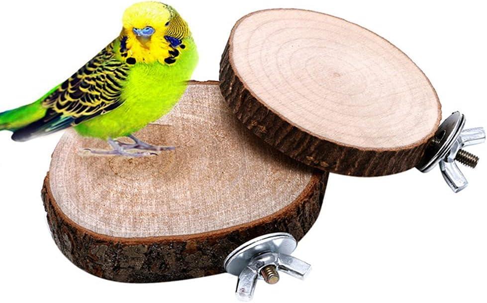 Anlrion - Juego de 2 juguetes para pájaros, loro, madera, colgantes, columpio, jaula de pájaros, descanso para pájaros, loros, pelucas, árabes