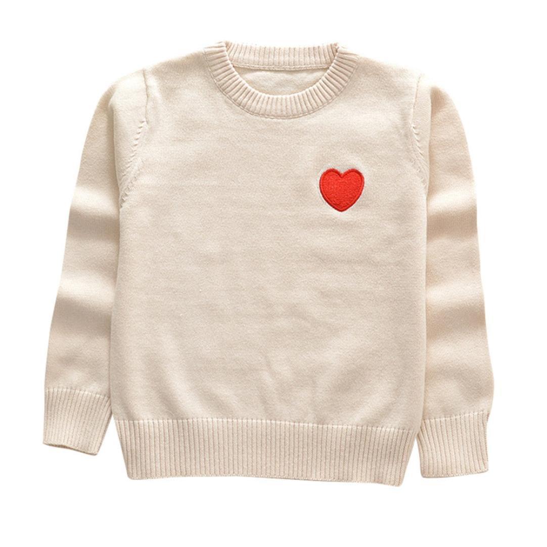 851d43f4cd2c Amazon.com  Fineser TM Baby Girl Boy Knitted Heart Print Sewing ...