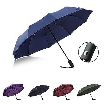 énorme réduction 43d69 ccccf SUXMAN Parapluie Pliant Compact Ouverture et Fermeture Automatique  Parapluie Homme/Femme Parapluie de Voyage en Fibre de Verre Incassable  Coupe-Vent ...