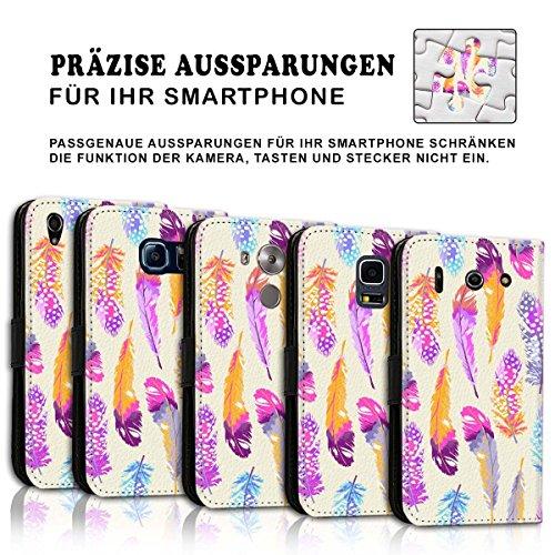 Wallet Book Style Flip Handy Tasche Case Schutz Hülle Schale Motiv Etui für Apple iPhone 6 Plus / 6S Plus - Design Flip MVD78