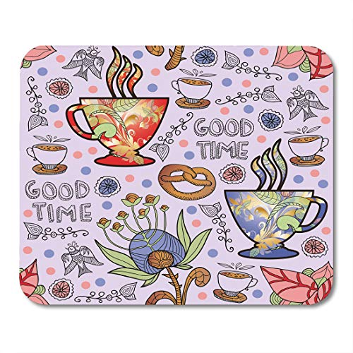 (Nakamela Mouse Pads Breakfast Abstract Coffee Ornamental Americano Arab Aroma Bakery Beverage Cafe Mouse mats 9.5