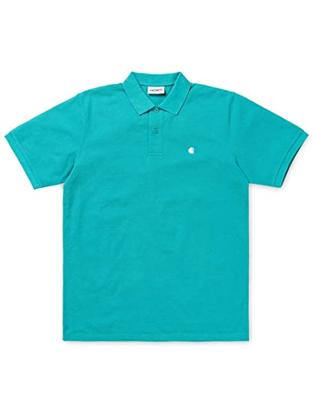 Carhartt S/S Madison Polo Soft Teal/White: Amazon.es: Ropa y ...