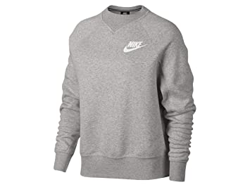 Nike W NSW Rally Crew Rib - Camiseta de Manga Larga, Mujer, Gris(Grey Heather/White): Amazon.es: Deportes y aire libre