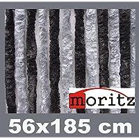 Moritz Cortina de tejido tipo chenille, mosquitera, 56x