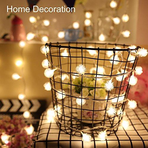 Christmas Decoration LED String Light Outlet Type LED lights String– 32ft 100 LED Lamps Flashing Party String Lights for Christmas Trees, Bedroom Decoration Patio, Wedding Decoration(Warm Yellow)