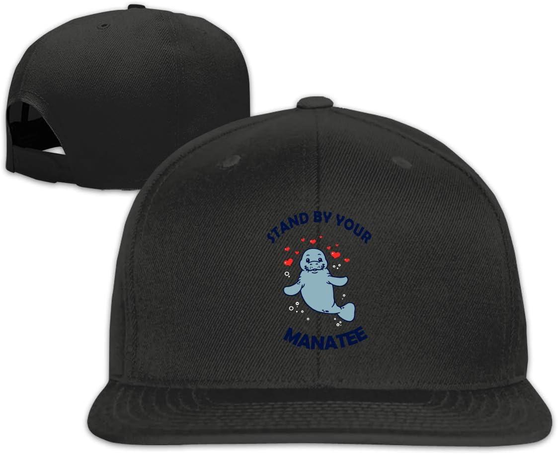 MOCSTONE Unisex Snapback Hat Manatee Heart Adjustable Baseball Cap